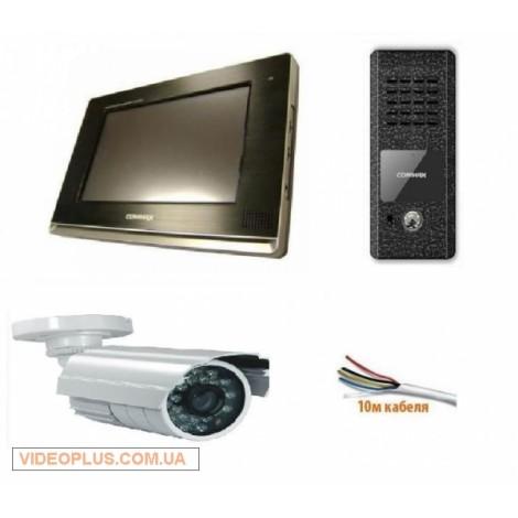 Комплект цветного домофона Commax CDV-1020AE с памятью и камерой