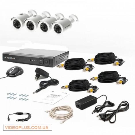 Комплект видеонаблюдения Tecsar 4OUT+1TБ HDD