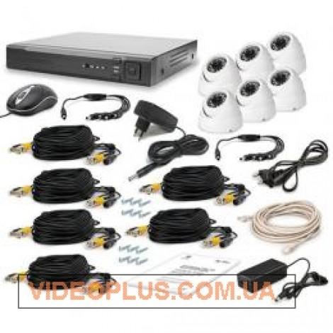 Комплект видеонаблюдения Tecsar 6OUT-DOME LUX