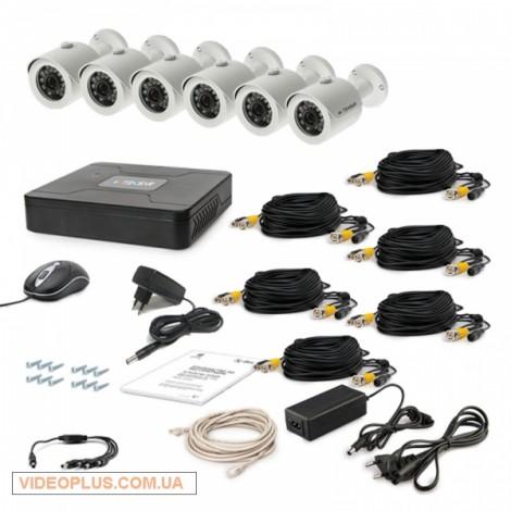 Комплект видеонаблюдения Tecsar 6OUT