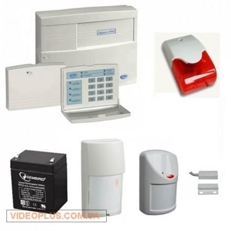 Сигнализация на коттедж с охраной территории и оповещением по GSM