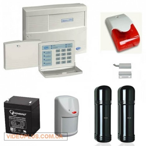 Сигнализация на коттедж с охраной периметра и оповещением по GSM