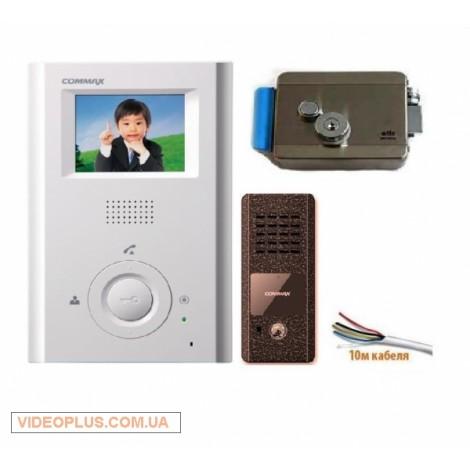 Комплект цветного домофона с замком Commax CDV-35h