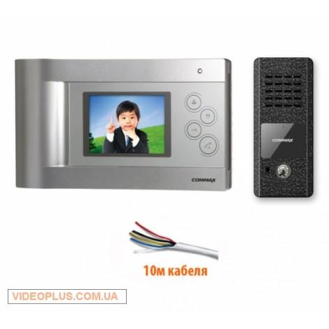 Комплект цветного видеодомофона Commax CDV-43QM с памятью
