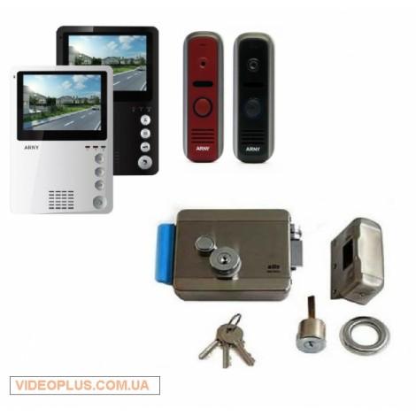 Комплект цветного видеодомофона ARNY AVD-410 с замком