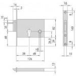 Электромеханический замок CISA 1.14010.60