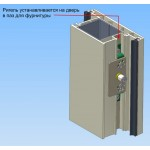 Электрозамок для металлопластиковых дверей и окон YEH-210