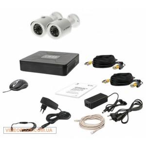 Комплект видеонаблюдения Tecsar 2OUT+500ГБ HDD
