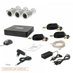 Комплект видеонаблюдения Tecsar 3OUT LUX