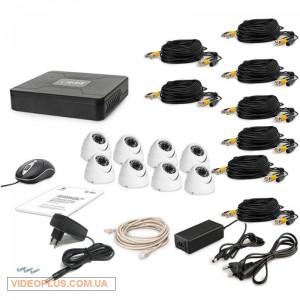 Комплект видеонаблюдения Tecsar 8OUT-DOME